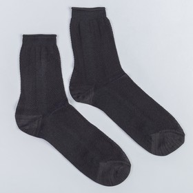 Носки мужские в сетку, цвет чёрный, размер 31 Ош