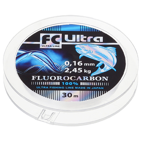 Леска Aqua FC Ultra Fluorocarbon, длина 30 м, d=0,16 мм