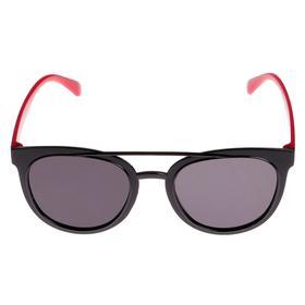 Очки солнцезащитные детские, оправа и дужки дву × цветные, МИКС, стёкла тёмные, 13.5 × 13.5 см