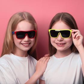 Очки солнцезащитные детские 'Спорт', оправа двухцветная, МИКС, линзы тёмные, 13 × 12.5 × 5.5 см Ош