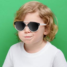 Очки солнцезащитные детские, оправа двухцветная, стёкла зеркальные, МИКС, 13 × 12 × 4.5 см