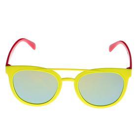 Очки солнцезащитные детские 'Авиаторы', оправа и дужки дву × цветные, МИКС, 13 × 12.5 × 4.5 см Ош
