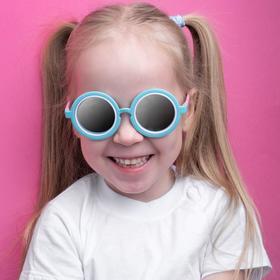 Очки солнцезащитные детские 'Round', оправа круглая трёхцветная, МИКС, 13 × 12.5 × 5 см Ош