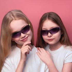 Очки солнцезащитные детские 'Спорт', оправа полоса, дужки МИКС, линза сплошная, 13.5 × 12 × 4 см Ош