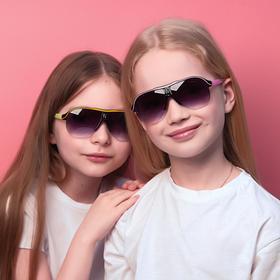 Очки солнцезащитные детские 'Оверсайз', модная оправа, МИКС, серебристая вставка, 13 × 12 × 5 см Ош