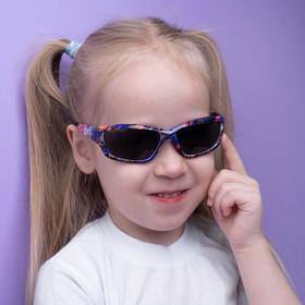 Очки солнцезащитные детские 'Спорт', оправа цветной рисунок, МИКС, стёкла тёмные, 13 × 12 × 5 см Ош