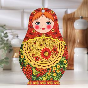 """Доска разделочная сувенирная """"Матрешка"""", 14,9×23 см"""