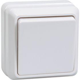 "Выключатель IEK ""ОКТАВА"" EVO10-K01-10-DC, 1 кл., ОП, 10А, 250В, IP20, бел., ВС20-1-0-ОБ"