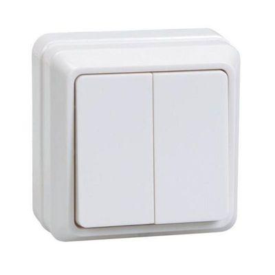 "Выключатель IEK ""ОКТАВА"" EVO20-K01-10-DC, 2 кл., ОП, 10А, 250В, IP20, бел., ВС20-2-0-ОБ"