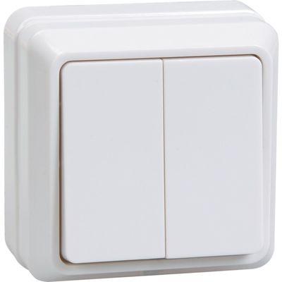 "Выключатель IEK ""ОКТАВА"" EVO20-K33-10-DC, 2 кл., ОП, 10А, IP20, крем., ВС20-2-0-Окм"