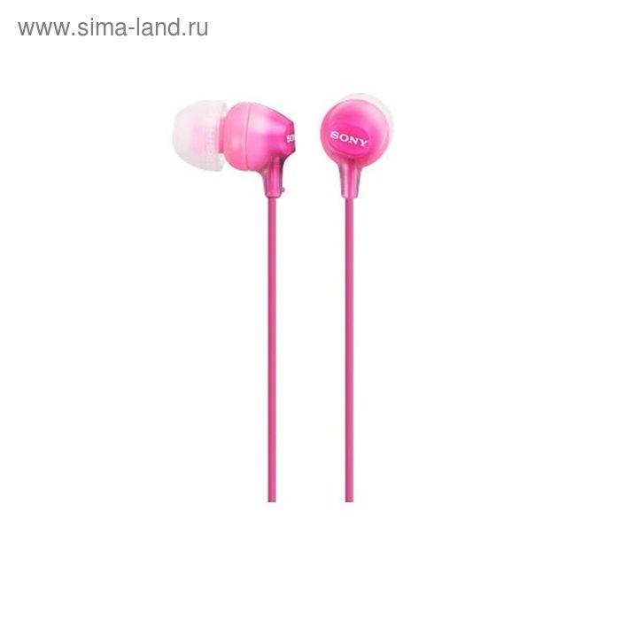 Наушники Sony MDREX15LPPI.AE, вкладыши, в ушной раковине, провод 1.2 м, розовые