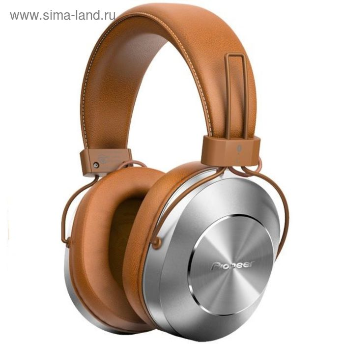 Наушники Pioneer SE-MS7BT-T, Bluetooth, мониторные, оголовье, провод 1.2 м, коричневые
