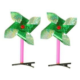 Карнавальный зажим «Ветерок», голография, цвета МИКС