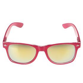 Очки солнцезащитные детские 'Square', оправа розовая, линзы зеркальные, 15 × 14 × 5 см Ош