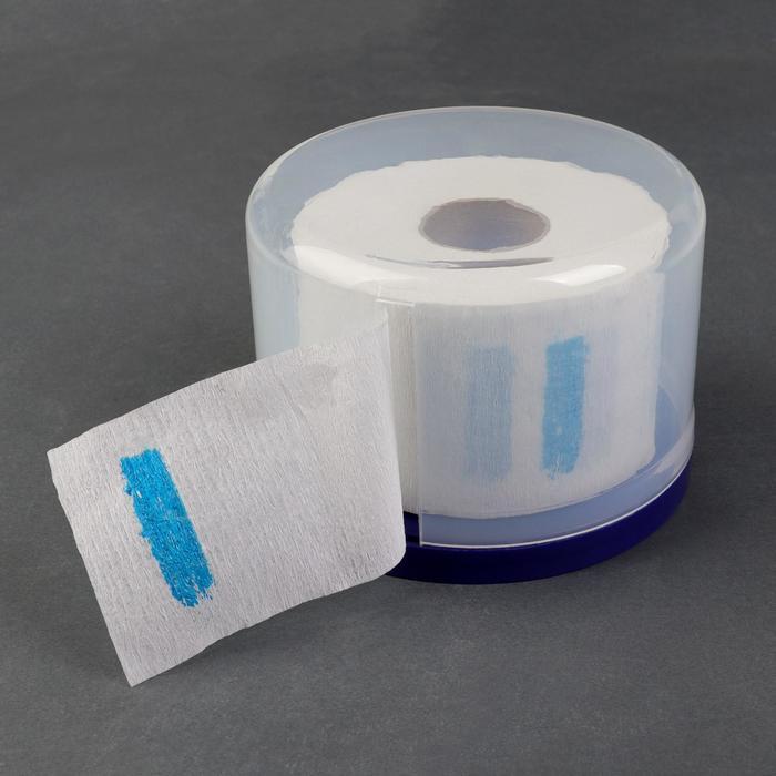 Контейнер для воротничков на присосках, d = 13 см, цвет синий