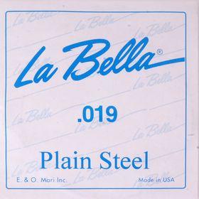 Отдельная стальная струна La Bella PS019 без оплетки, 019