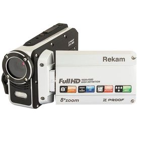 Видеокамера Rekam DVC-380, IS el 2.7', 1080 p, SD+MMC Flash/Flash, серебристая Ош