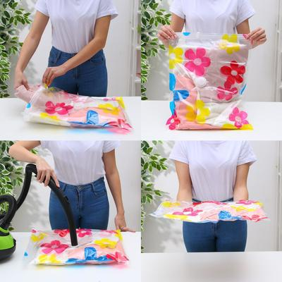 Вакуумный пакет для хранения вещей 40×50 см, цветной - Фото 1