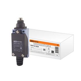 Выключатель концевой TDM ВККН-2110М11-У2, кнопочный толкатель, 5 А, 1з+1р, IP65, SQ0732-0028   32917 Ош