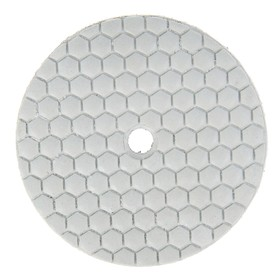 Алмазный гибкий шлифовальный круг TUNDRA, для сухой шлифовки, 100 мм, BUFF белый Ош