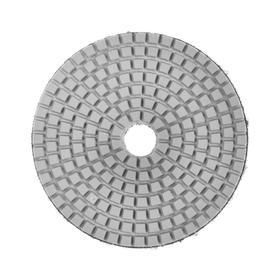 Алмазный гибкий шлифовальный круг TUNDRA, для мокрой шлифовки, 100 мм, BUFF белый Ош