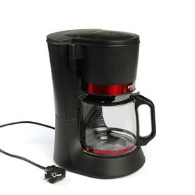 Кофеварка DELTA LUX DL-8152, капельная, 680 Вт, 1.2 л, чёрно-красная Ош