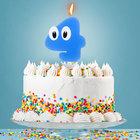 Свеча в торт цифра 4