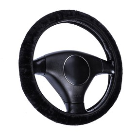 Оплетка на руль меховая TORSO, мультиразмер, черный Ош