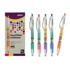 Ручка шариковая автоматическая BEIFA EasyClicker, узел 0.7мм, чернила синие, резиновый упор, микс