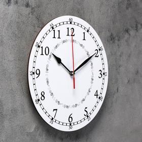 Часы настенные классика, круглые 24 см  микс Ош