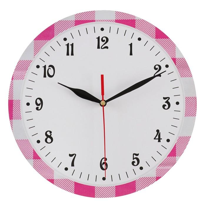 Часы настенные классика, круглые 24 см микс