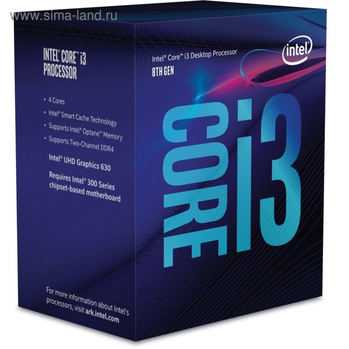 Процессор Intel Original Core i3 8300 Soc-1151v2 3.7GHz/Intel UHD Graphics 630 Box