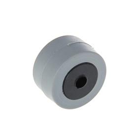 Колесо мебельное TUNDRA обрезиненное d=27 мм, L=15 мм, серое Ош