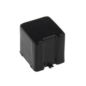 Заглушка TUNDRA наружная 25x25 мм, черная Ош