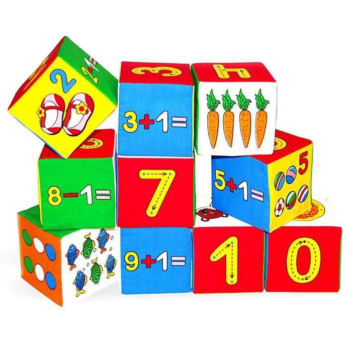 "Набор развивающих мягких кубиков ""Умная математика"""