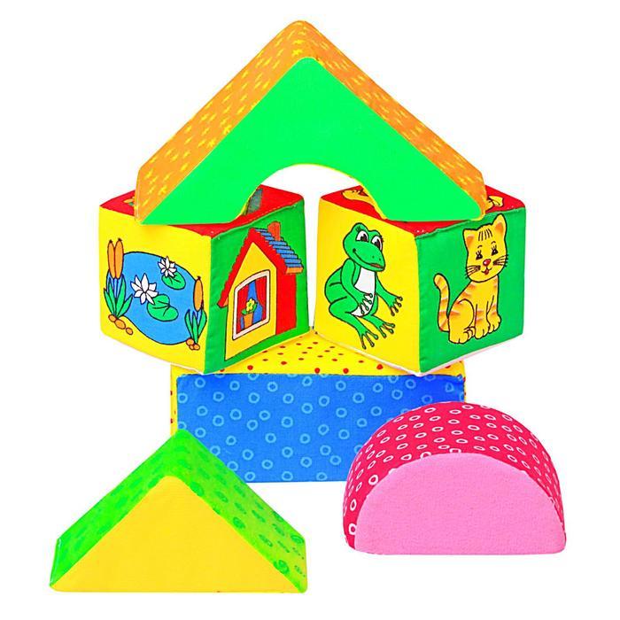 "Развивающая игрушка - кубики ""Домики"""