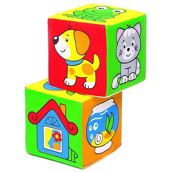 Развивающая игрушка-кубики «Чей домик?»