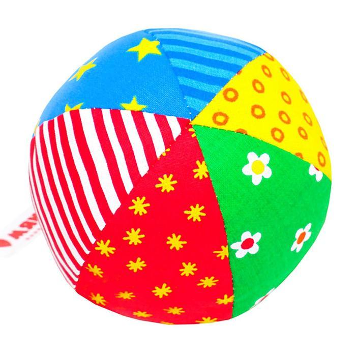 Развивающий мягкая погремушка «Мяч Радуга», цвета МИКС
