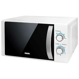Микроволновая печь BBK 20MWS-711M/WS, 700 Вт, 20 л, серебристо-белая Ош