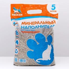 Наполнитель минеральный впитывающий 'Пижон' для короткошерстных кошек, 5 л Ош