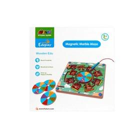 Развивающая игра «Деревянный лабиринт с магнитными шариками»