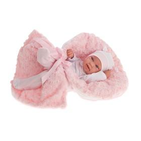 Кукла-младенец «Эдуарда» в розовом, 42 см