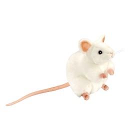 Мягкая игрушка «Белая мышь», 16 см