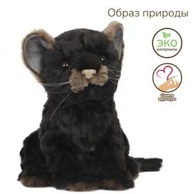 """Мягкая игрушка """"Детеныш ягуара"""" чёрный, 17 см"""