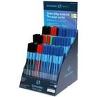 Ручка шариковая Schneider Slider Edge F/M/XB, 4 цвета, 120 штук в дисплее SiS