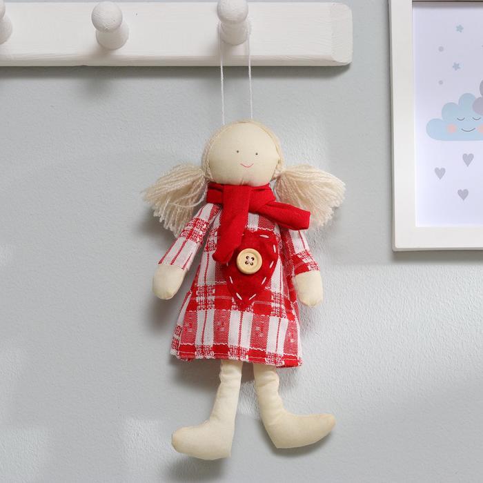 Подвеска Юля, кукла в шарфике, цвета МИКС