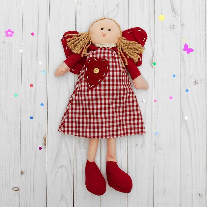 Подвеска Ангелочек, кукла, блондинка с хвостиками, цвета МИКС