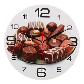 Часы настенные круглые 'Шоколадные конфеты', 24 см  микс Ош