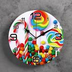 """Часы настенные круглые """"Карамель"""", 24 см  микс"""