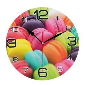 Часы настенные, серия: Кухня, 'Радуга макарун', 24 см Ош
